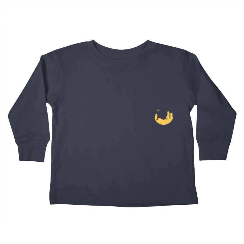 Round Yellow Small Kids Toddler Longsleeve T-Shirt by The Porch