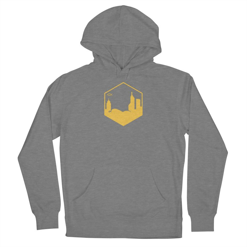 Hexagon Yellow Women's Pullover Hoody by The Porch