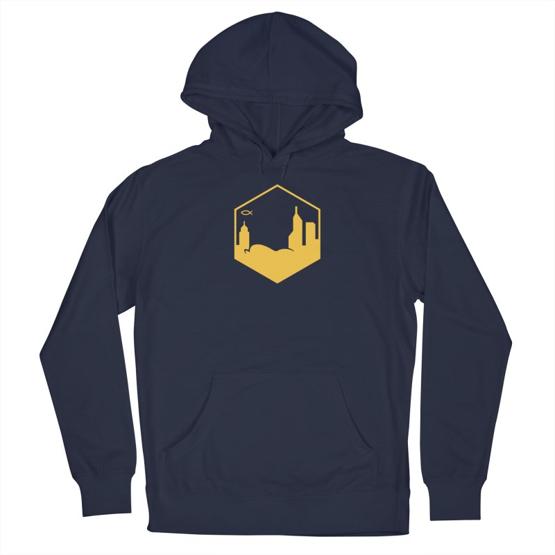 Hexagon Yellow Men's Pullover Hoody by The Porch