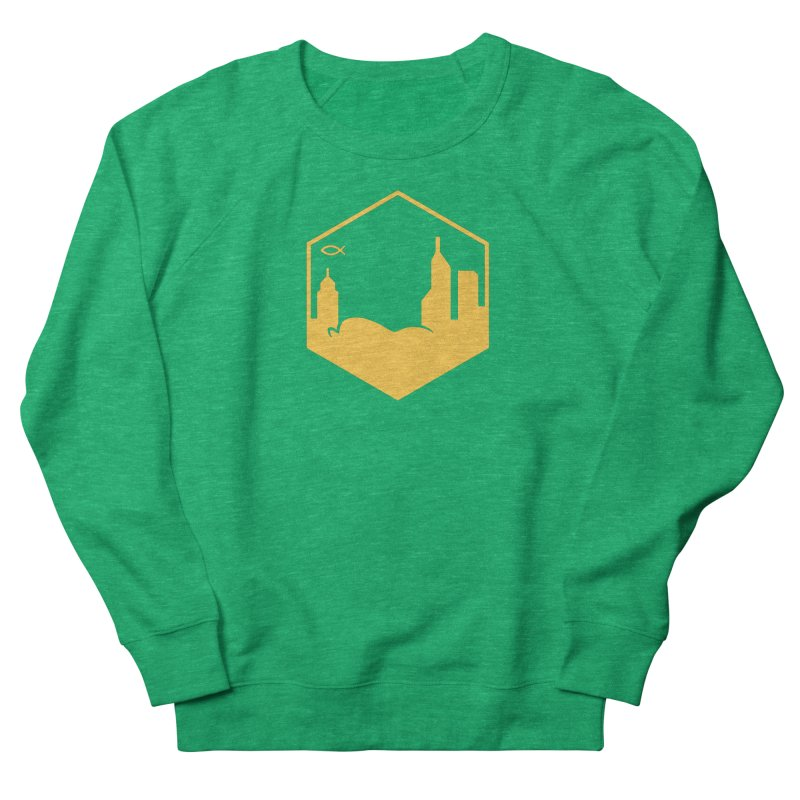 Hexagon Yellow Women's Sweatshirt by The Porch