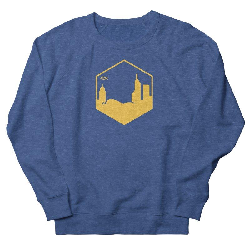 Hexagon Yellow Men's Sweatshirt by The Porch