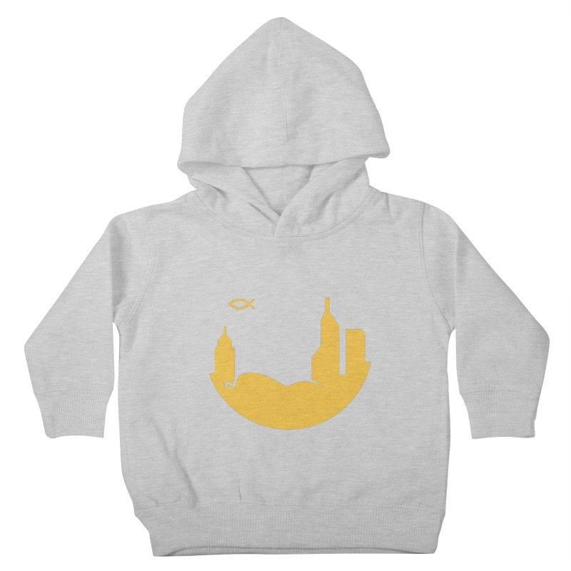 Round Yellow Kids Toddler Pullover Hoody by The Porch