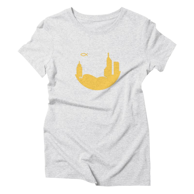 Round Yellow Women's T-Shirt by The Porch