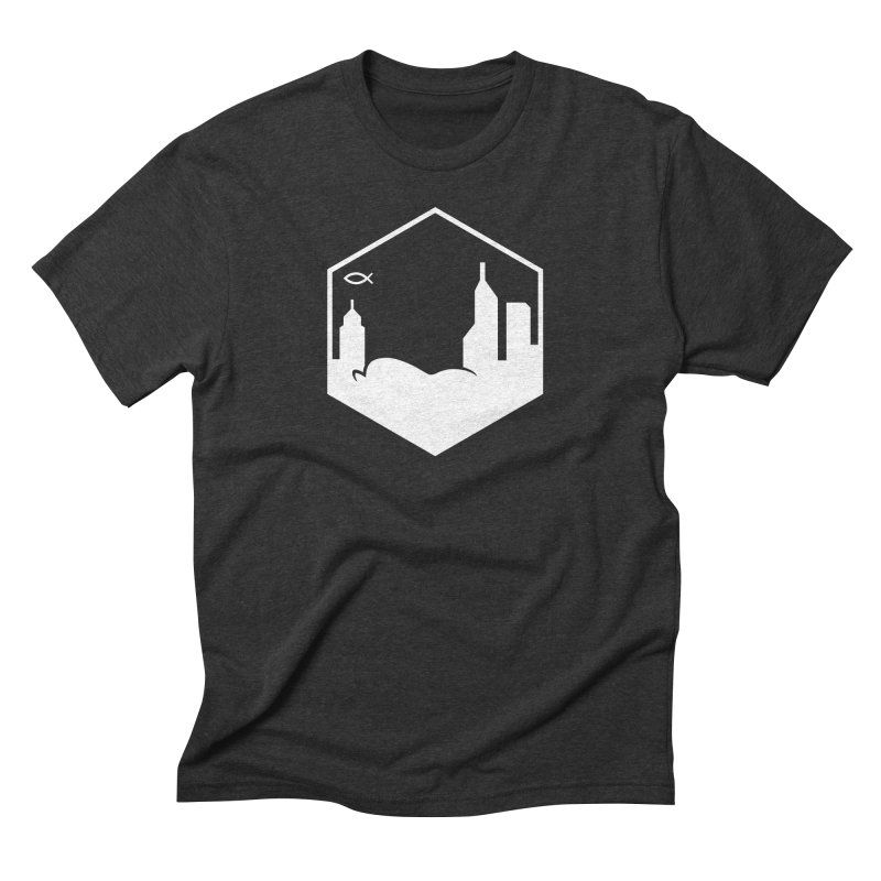 Hexagon White Men's T-Shirt by The Porch