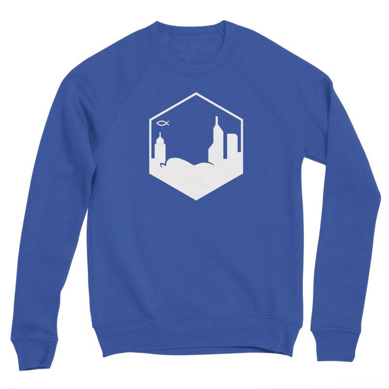 Hexagon White Women's Sweatshirt by The Porch