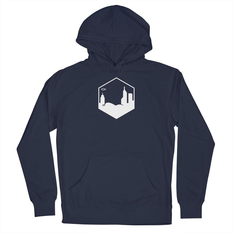 Hexagon White Men's Pullover Hoody by The Porch