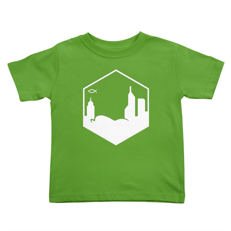 Hexagon White Kids Toddler T-Shirt by The Porch