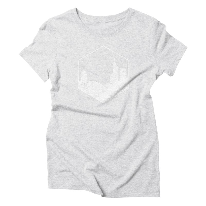 Hexagon White Women's T-Shirt by The Porch
