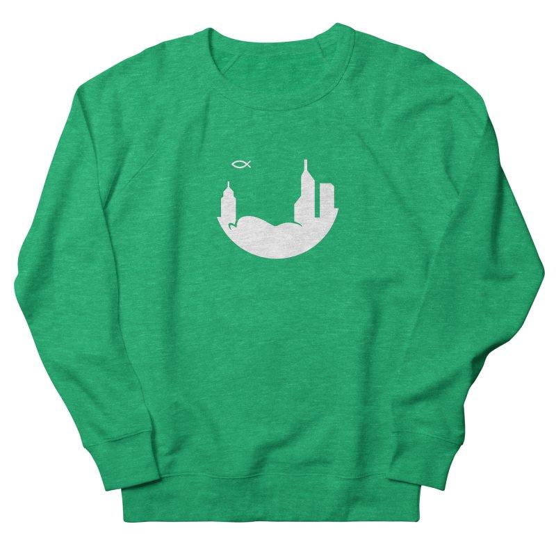 Round White Women's Sweatshirt by The Porch
