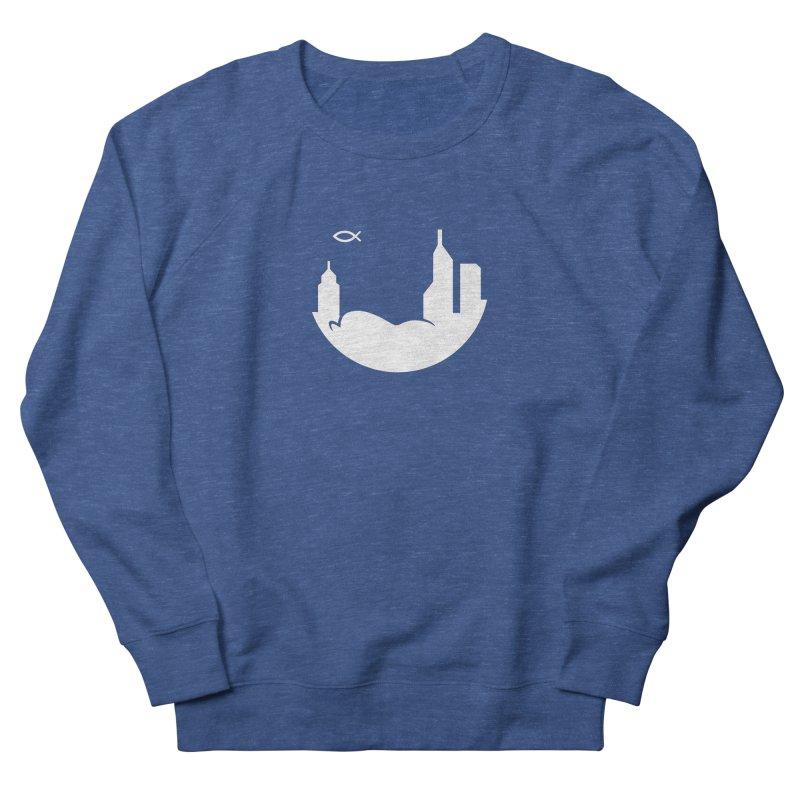 Round White Men's Sweatshirt by The Porch