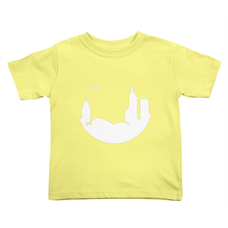 Round White Kids Toddler T-Shirt by The Porch