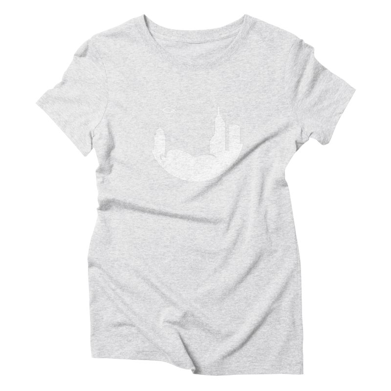 Round White Women's T-Shirt by The Porch