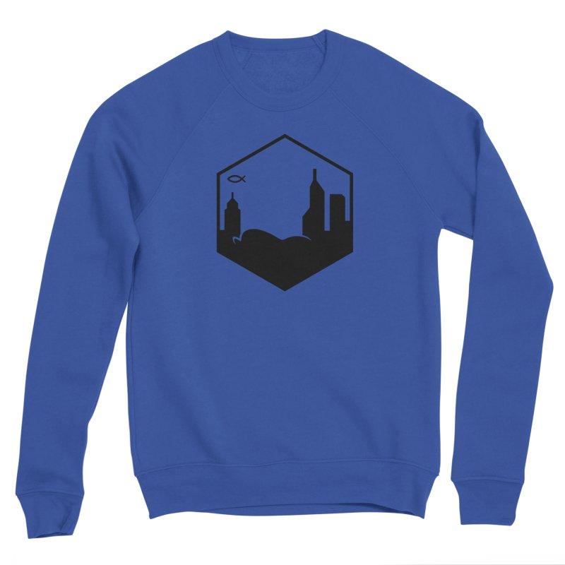 Hexagon Black Men's Sweatshirt by The Porch