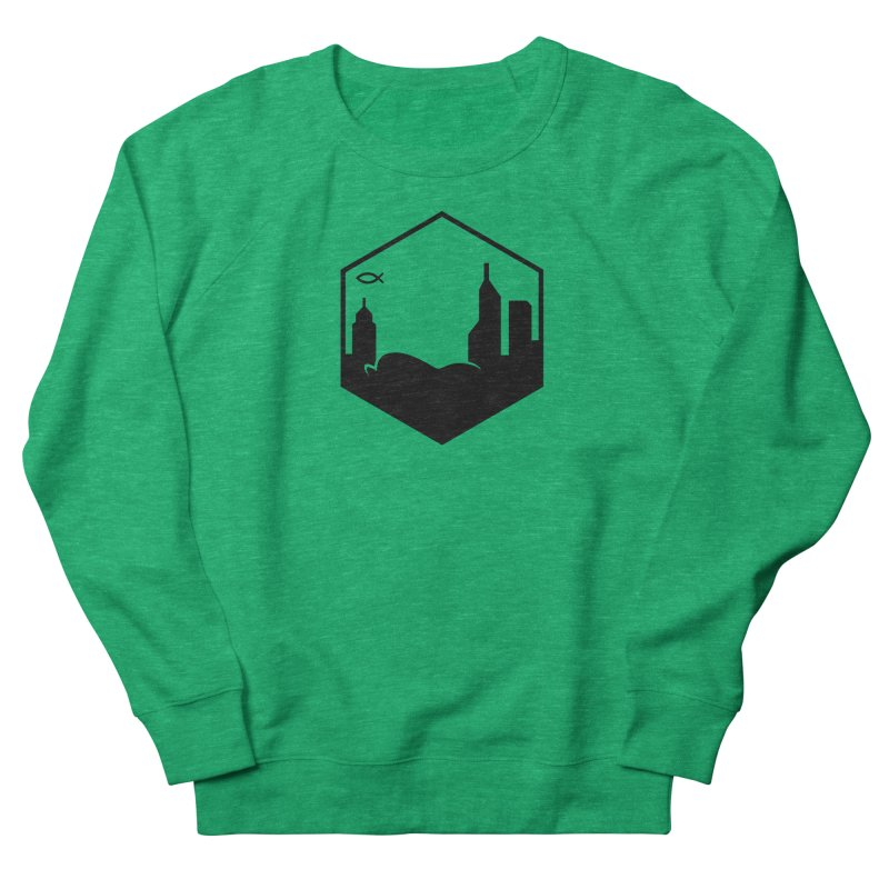 Hexagon Black Women's Sweatshirt by The Porch