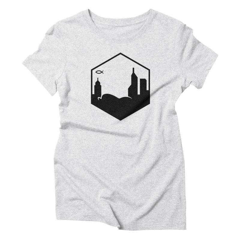 Hexagon Black Women's T-Shirt by The Porch