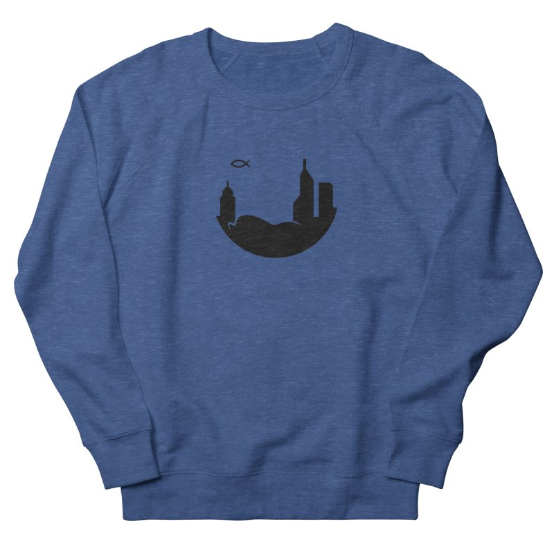 Round Black Men's Sweatshirt by The Porch