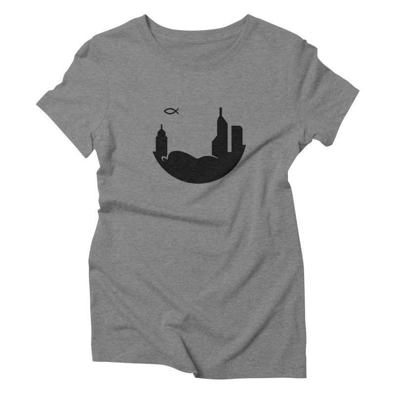 Round Black Women's T-Shirt by The Porch