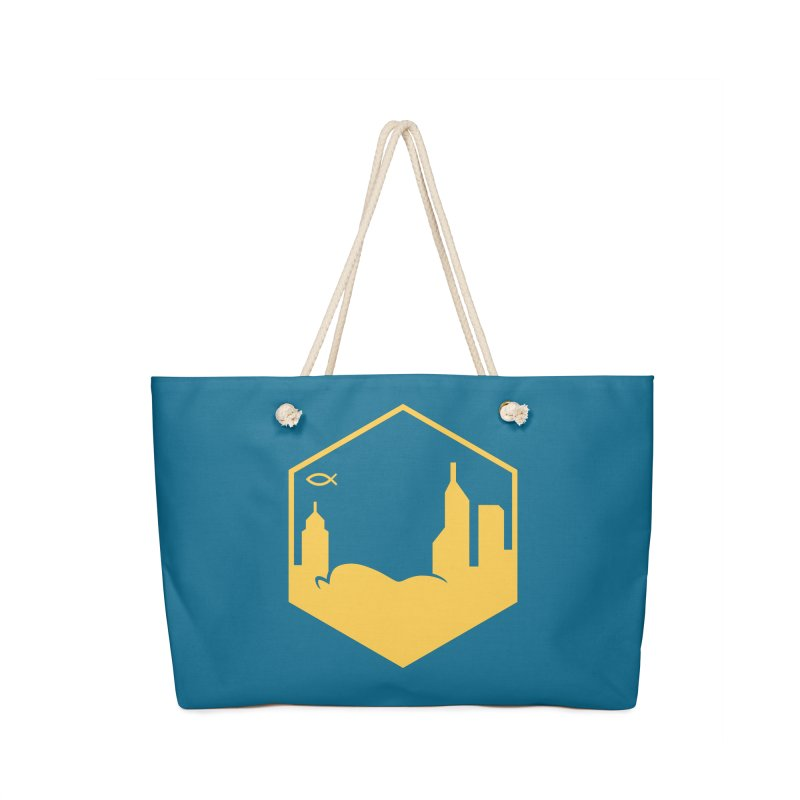 Hexagon Yellow Full Accessories Bag by The Porch