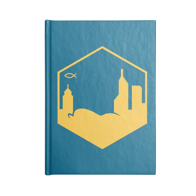 Hexagon Yellow Full Accessories Notebook by The Porch