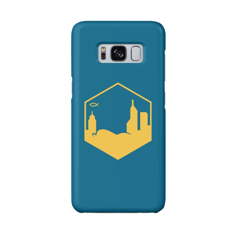 Hexagon Yellow Full Accessories Phone Case by The Porch