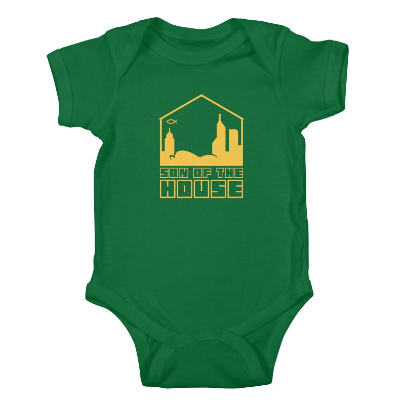 Son of the House Yellow Kids Baby Bodysuit by The Porch