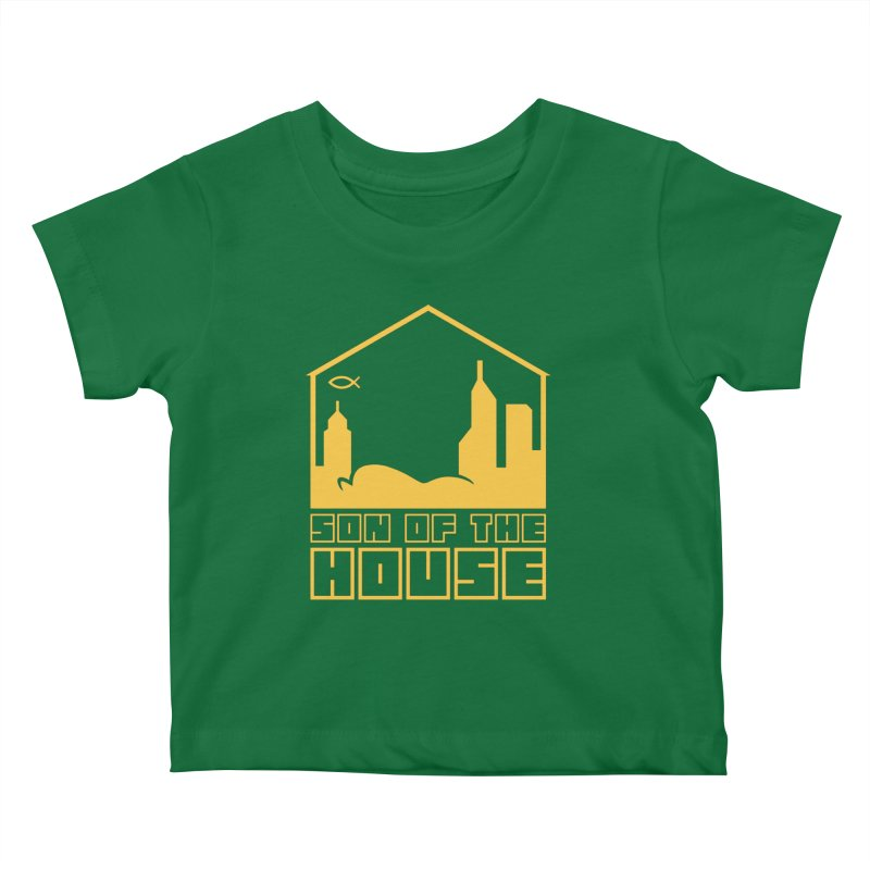 Son of the House Yellow Kids Baby T-Shirt by The Porch
