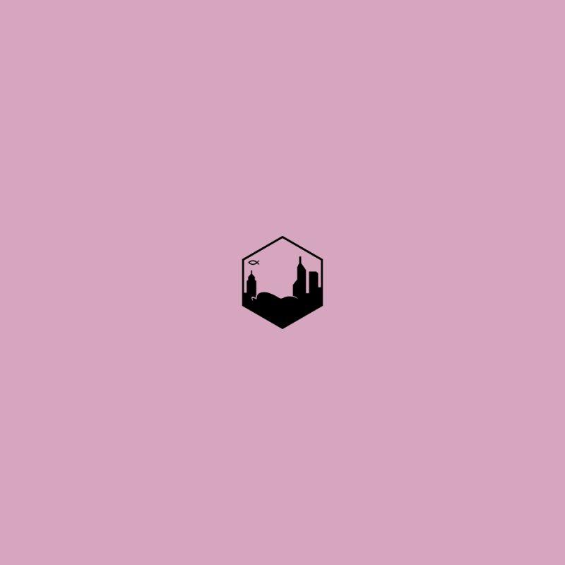 Hexagon Black V Men's V-Neck by The Porch