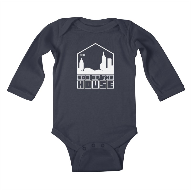 Son of the House White Kids Baby Longsleeve Bodysuit by The Porch