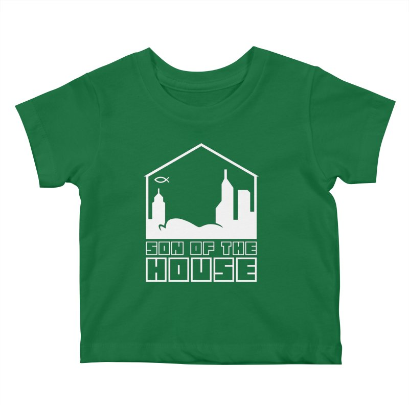 Son of the House White Kids Baby T-Shirt by The Porch