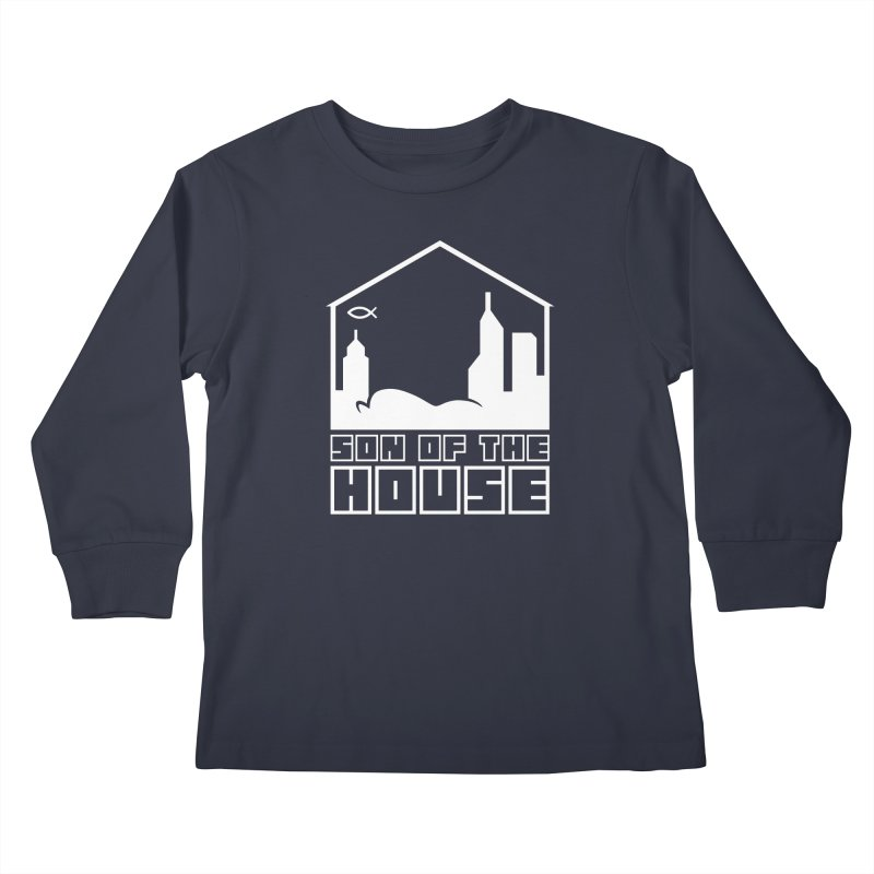 Son of the House White Kids Longsleeve T-Shirt by The Porch
