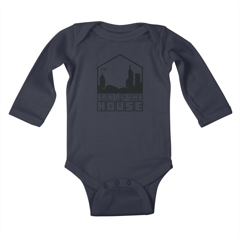 Son of the House Black Kids Baby Longsleeve Bodysuit by The Porch