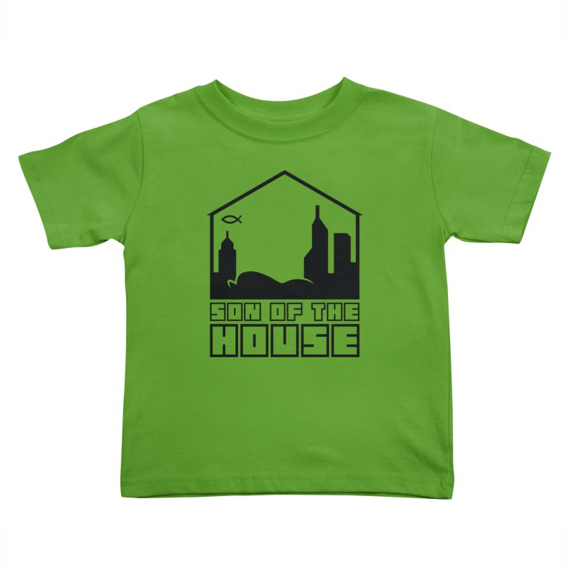 Son of the House Black Kids Toddler T-Shirt by The Porch