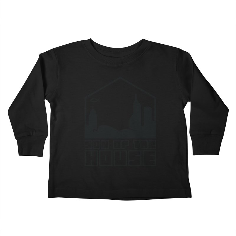 Son of the House Black Kids Toddler Longsleeve T-Shirt by The Porch