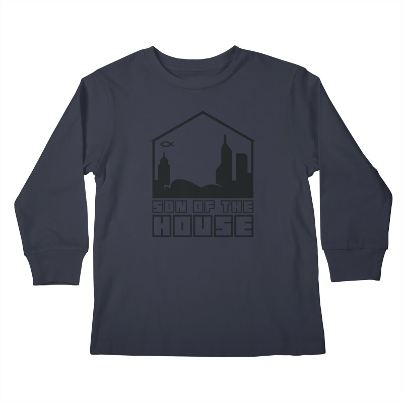 Son of the House Black Kids Longsleeve T-Shirt by The Porch