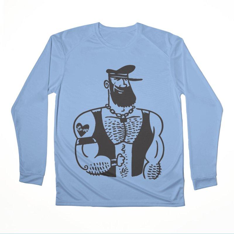 Leather Cap Women's Longsleeve T-Shirt by PORK-PIE Brand