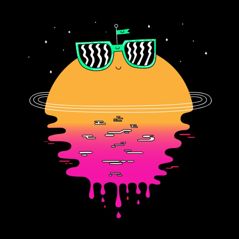 Happy Sunset Men's T-Shirt by Porky Roebuck Artist Shop