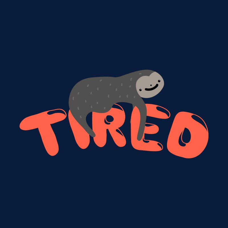 Sloth Tired Men's T-Shirt by Porky Roebuck Artist Shop