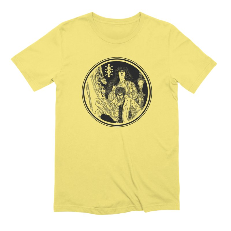Allegory and Self in Men's Extra Soft T-Shirt Light Yellow by Genesis POrridge