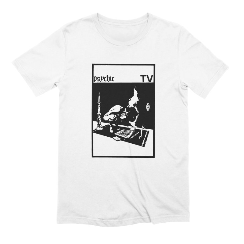 PSYCHIC TV BURNING VINTAGE DESIGN in Men's Extra Soft T-Shirt White by Genesis POrridge