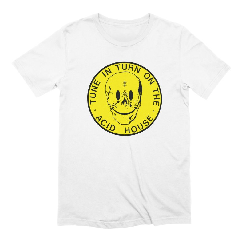 Acid House in Men's Extra Soft T-Shirt White by Genesis POrridge