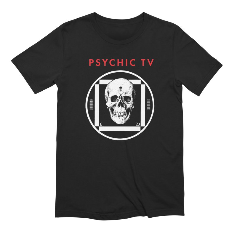 Test Card Skull in Men's Extra Soft T-Shirt Black by Genesis POrridge