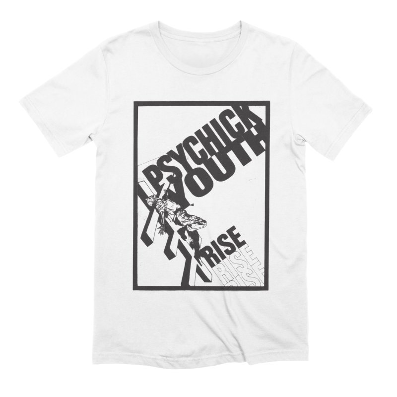 Psychic Youth Rise in Men's Extra Soft T-Shirt White by Genesis P-Orridge