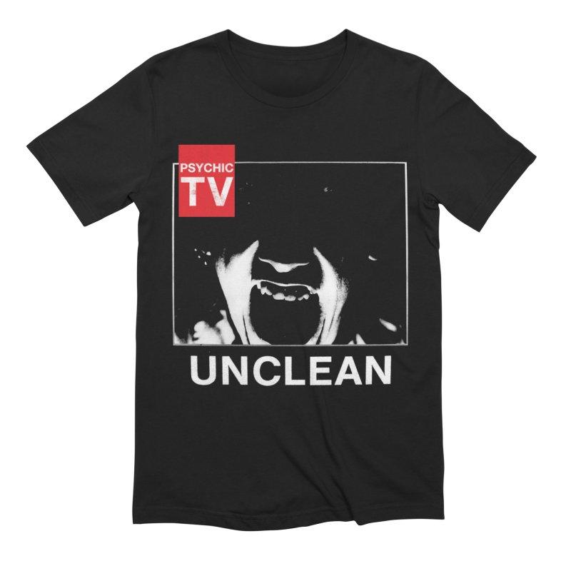 Unclean in Men's Extra Soft T-Shirt Black by Genesis P-Orridge