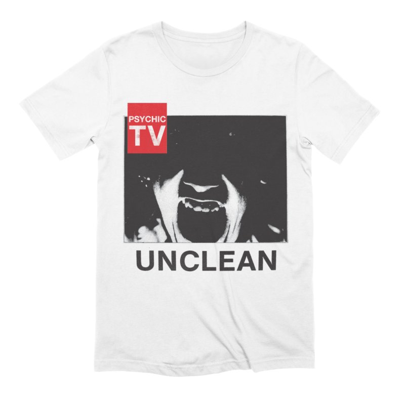 Unclean in Men's Extra Soft T-Shirt White by Genesis P-Orridge