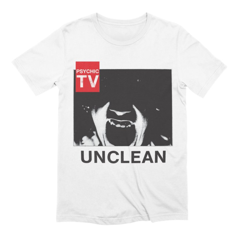 Unclean in Men's Extra Soft T-Shirt White by Genesis P-Orridge