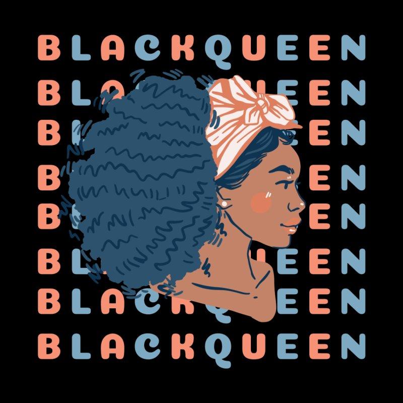 Black Queen: best black women, black goddess energy, beautiful black girl illustration, feminine Men's T-Shirt by poshprintsbybee's Artist Shop