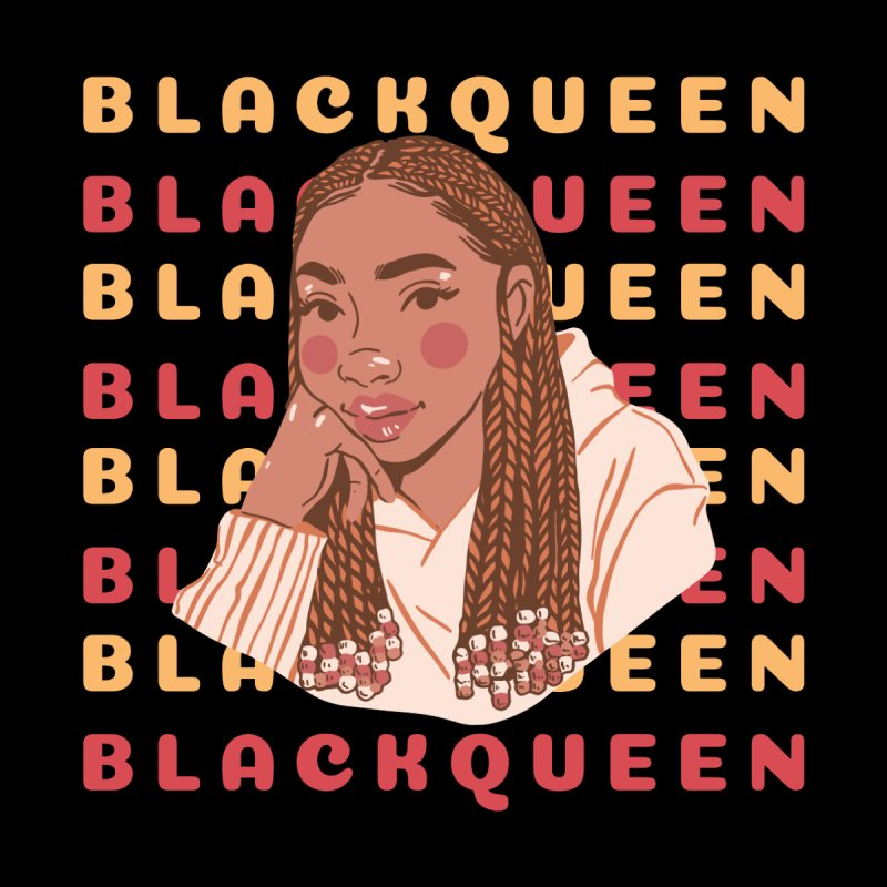 Black Queen: unique black women, black goddess energy, beautiful black girl illustration Men's T-Shirt by poshprintsbybee's Artist Shop