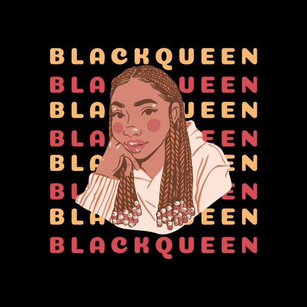 Design for Black Queen: unique black women, black goddess energy, beautiful black girl illustration