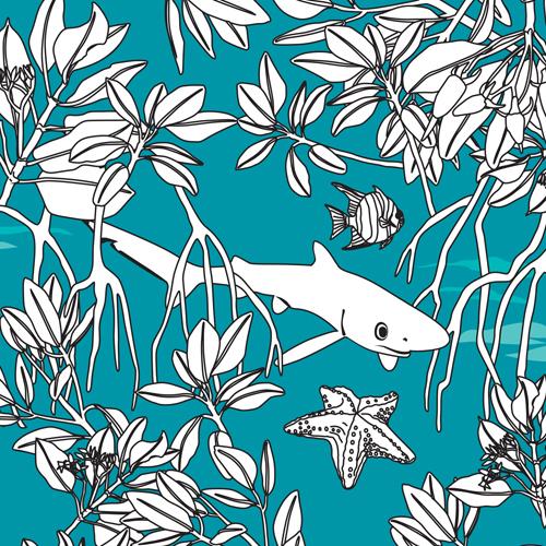Mangroves-In-Blue