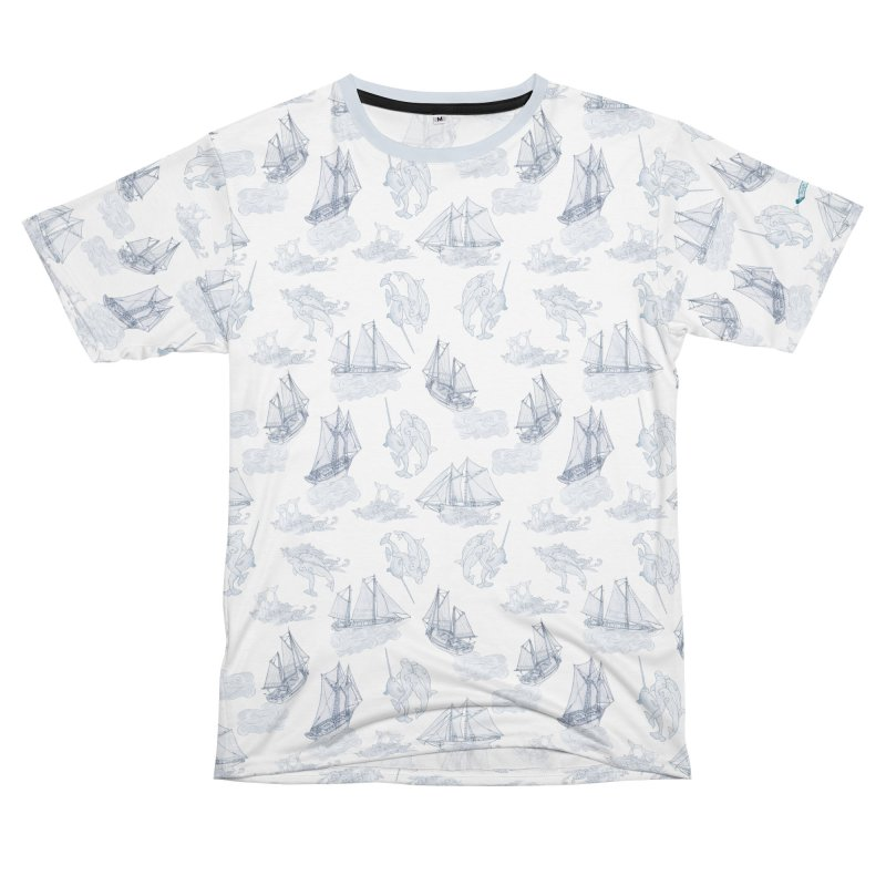 Belugas Narwhals and Ships in Men's T-Shirt Cut & Sew by Posh Tide